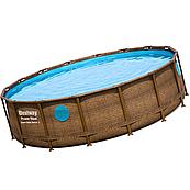Каркасний басейн Ротанг 56725 (488 х 122 см), з картриджних фільтрів, сходами і тентом