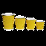 Гофровані склянки RIPPLE Жовтий