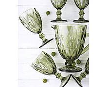 Набор для напитков Зеркальный Изумруд 6 Бокалов 300 мл + 1 Кувшин 1000 мл| Набор стаканов| набор бокалов