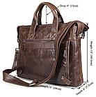 Сумка мужская Vintage 14368 Коричневая, фото 2
