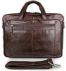 Сумка мужская Vintage 14371 для ноутбука 17 дюймов Коричневая, фото 3