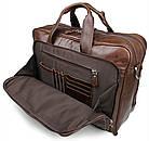 Сумка мужская Vintage 14371 для ноутбука 17 дюймов Коричневая, фото 5