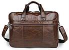Сумка мужская Vintage 14371 для ноутбука 17 дюймов Коричневая, фото 9
