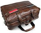 Сумка мужская Vintage 14371 для ноутбука 17 дюймов Коричневая, фото 10