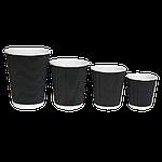 Гофровані склянки RIPPLE Чорний