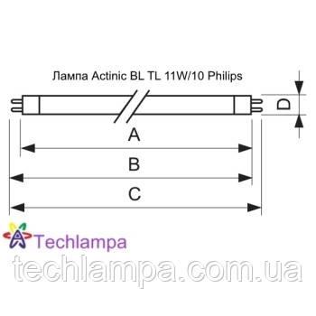 Лампа Actinic BL TL 11W/10 Philips