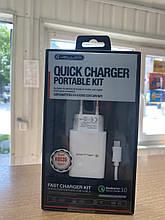 Зарядний пристрій USB jellico aqc33+cable type-c