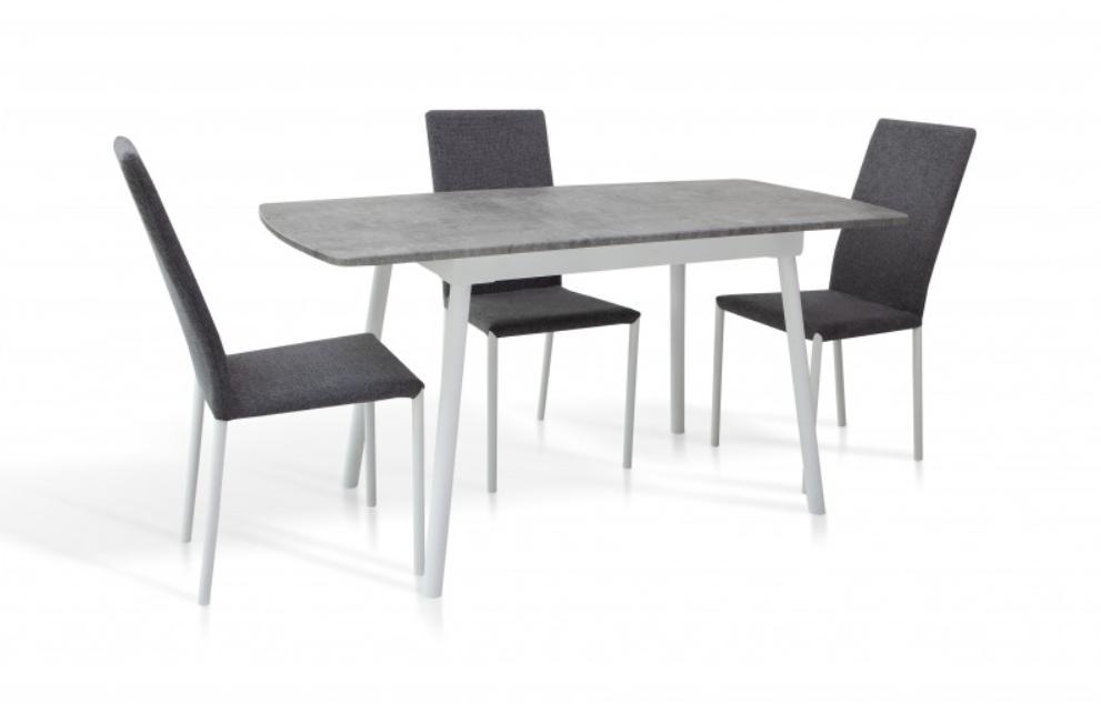 Стол обеденный -Соло 1100(+350)*700 (белый/серый)