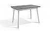 Стол обеденный -Соло 1100(+350)*700 (белый/серый), фото 2