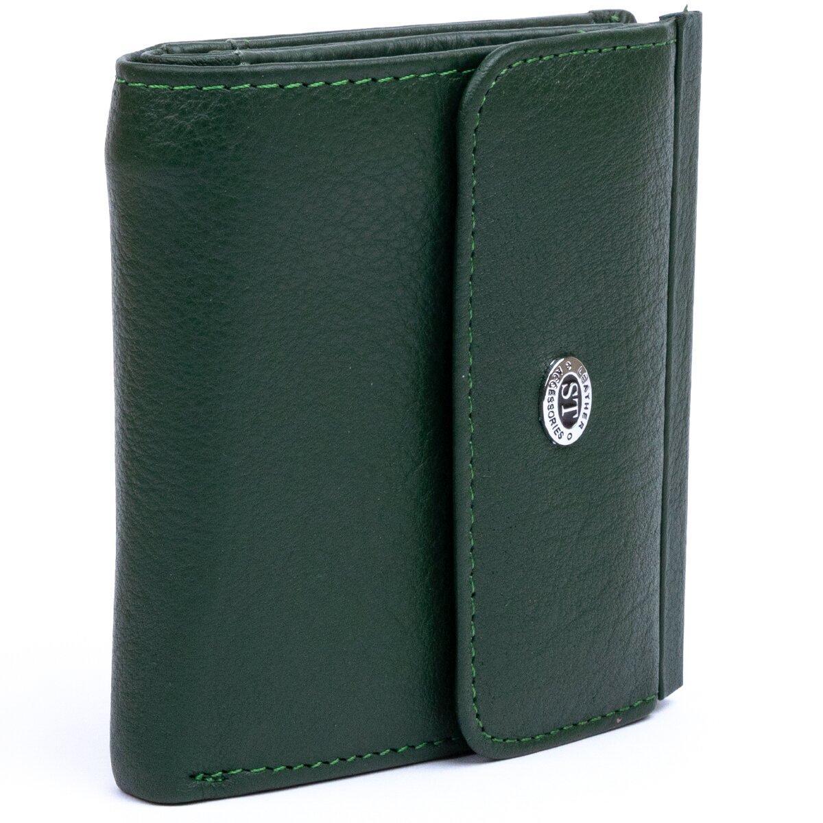 Оригінальний жіночий гаманець ST Leather 18922 Зелений