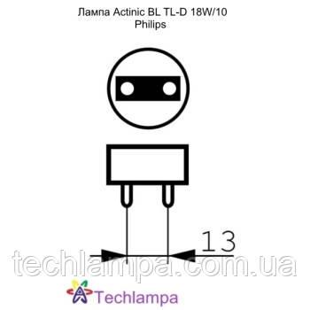 Лампа Actinic BL TL-D 18W/10 Philips