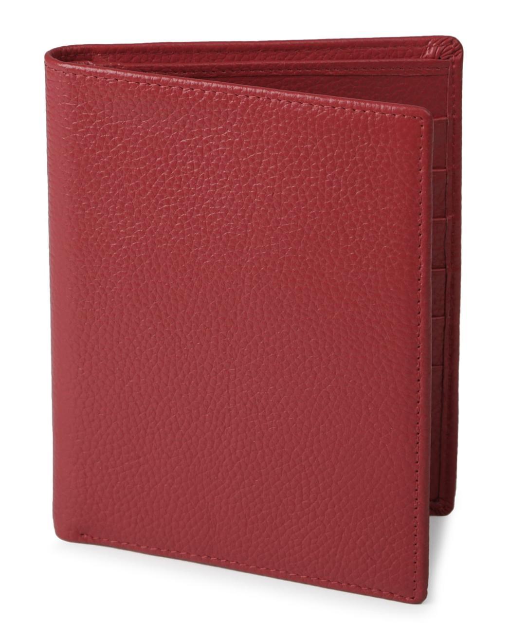 Кошелек SHVIGEL 13831 кожаный с отделениями для паспортов Красный