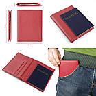 Кошелек SHVIGEL 13831 кожаный с отделениями для паспортов Красный, фото 7