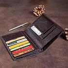 Гаманець SHVIGEL 13832 шкіряний з відділеннями для паспортів Коричневий, фото 7