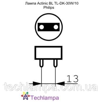 Лампа Actinic BL TL-DK-30W/10 Philips