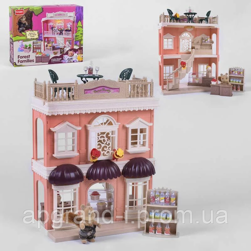 Дитячий тематичний ігровий набір будиночок для ляльок Щаслива сім'я Місто коали іграшковий магазин