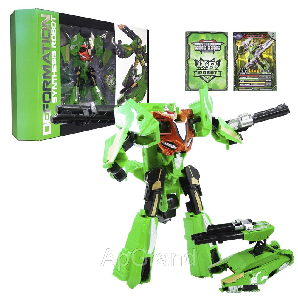 """Робот трансформер """"Deformation Synthesis Robot"""" с оружием 25 см (зеленый) MB"""