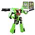 """Робот трансформер """"Deformation Synthesis Robot"""" с оружием 25 см (зеленый) MB, фото 3"""