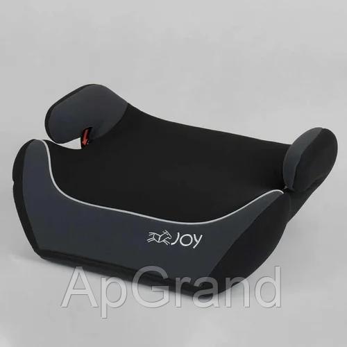 Дитяче автокрісло-бустер JOY 43616 Чорний з сірим група 2/3 для 3-12 років, вага дитини 15-36 кг