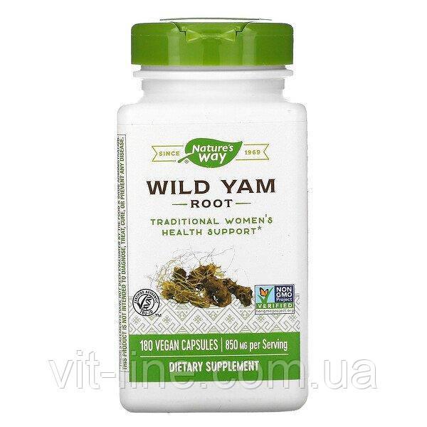 Nature's Way, корень дикого ямса, 850 мг, 180 веганских капсул
