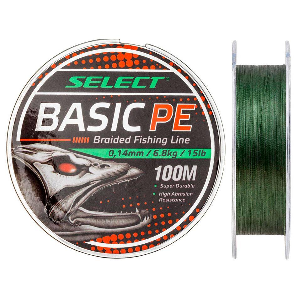 Шнур Select Basic PE 100m (темн-зел.) 0.06mm 6lb/3kg