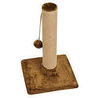 Когтеточка-столбик 33х33х50 см (дряпка) для кошки. Когтеточка для котов. Коричневый