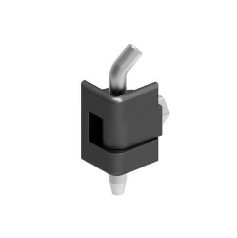 Петля кутова для меблів металевих 311-V2, чорна, 180 град, 1,2-1,8 мм