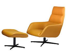 Berkeley лаунж крісло з підставкою, світло-коричневий