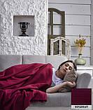 """Флисовый Плед покрывало """"Полар"""" двуспальный 185×215 см Бежевого цвета бренд KAYRA Турция, фото 6"""