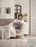 """Флисовый Плед покрывало """"Полар"""" двуспальный 185×215 см Бежевого цвета бренд KAYRA Турция, фото 8"""