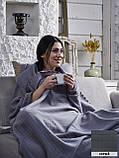 """Флисовый Плед покрывало """"Полар"""" двуспальный 185×215 см Бежевого цвета бренд KAYRA Турция, фото 10"""