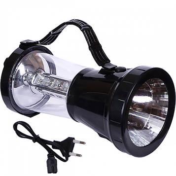 Кемпінговий ліхтар 2 в 1 LED заряджається від сонячної батареї, від мережі 220 В 22х10х10 см