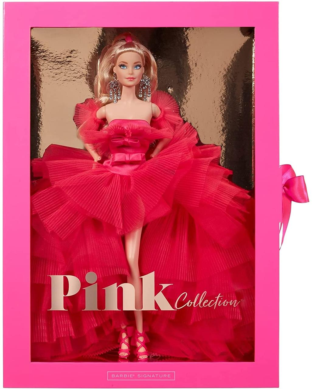 Колекційна лялька Барбі Рожева колекція Barbie Signature Silkstone Pink Collection Pink Premiere GTJ76
