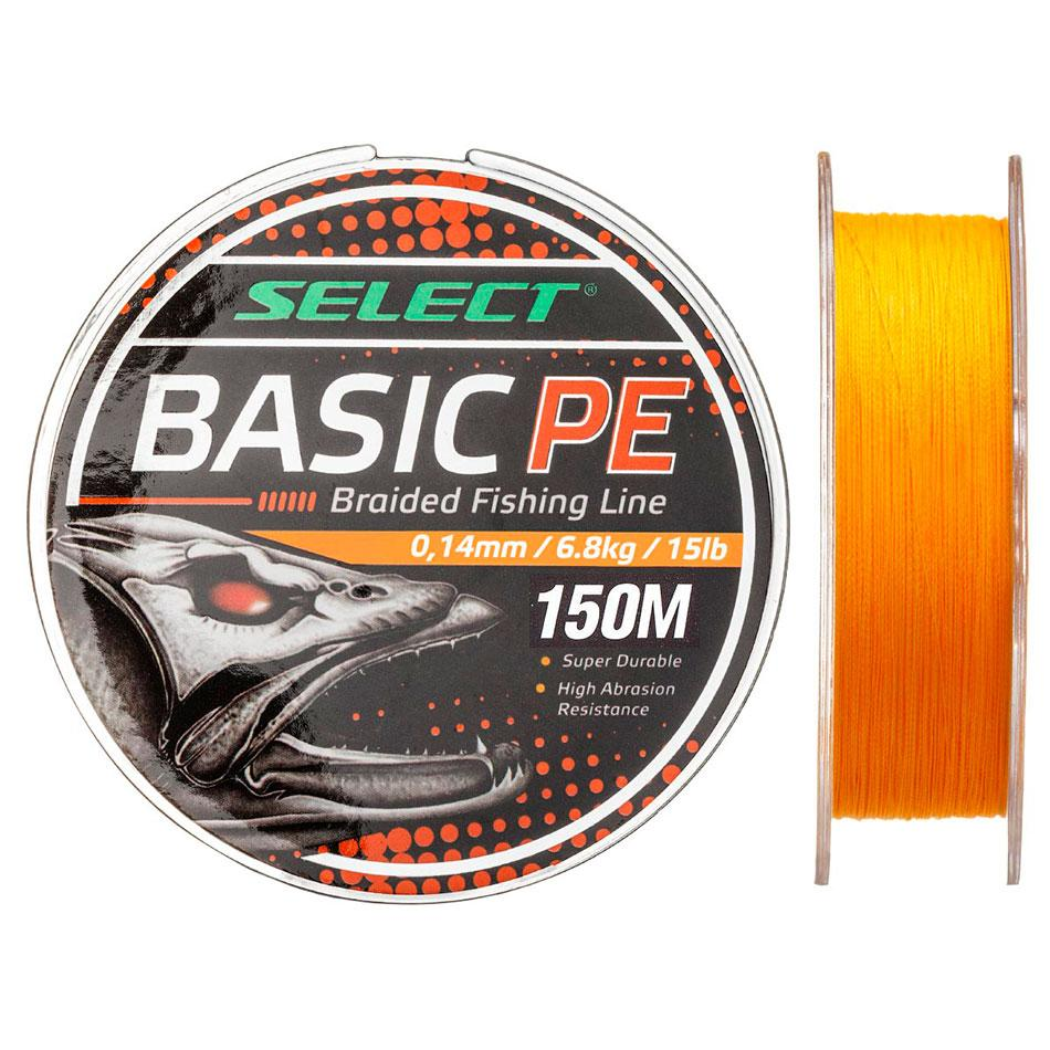 Шнур Select Basic PE 150m (оранж.) 0.08mm 8lb/4kg