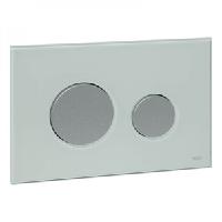 Панель смыва с двумя клавишами стеклянная TECE TECEloop 9.240.652 стекло зеленое, клавиши хром матовый, фото 1