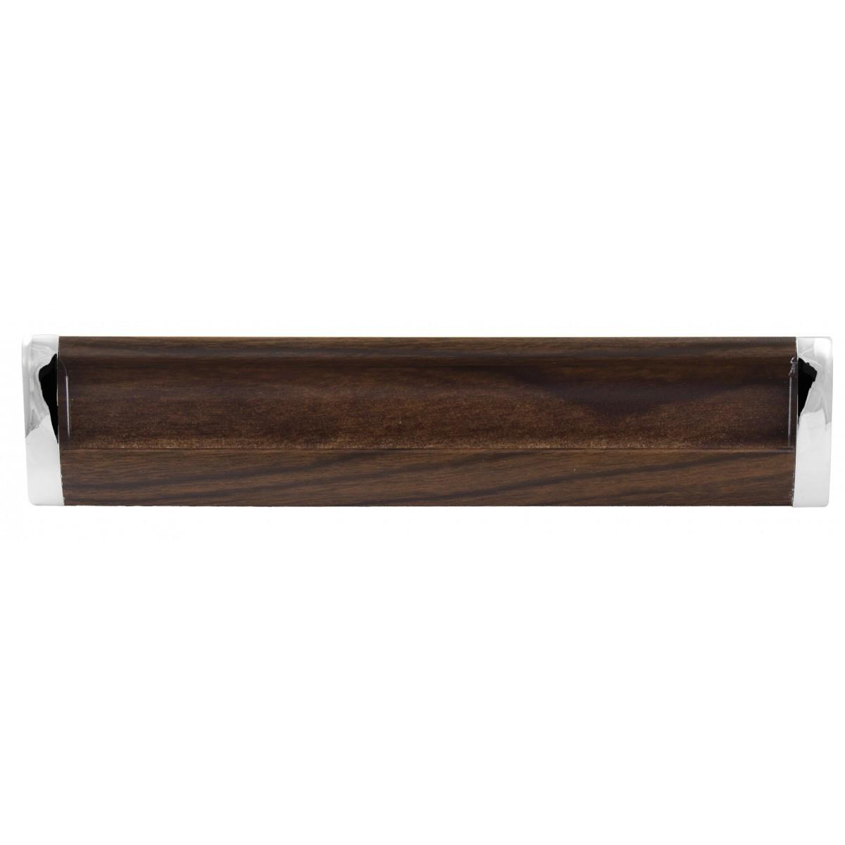Ручка мебельная Ozkardesler 14.201-06/026 GOммE BOY KULP 192 мм Хром-Орех темный