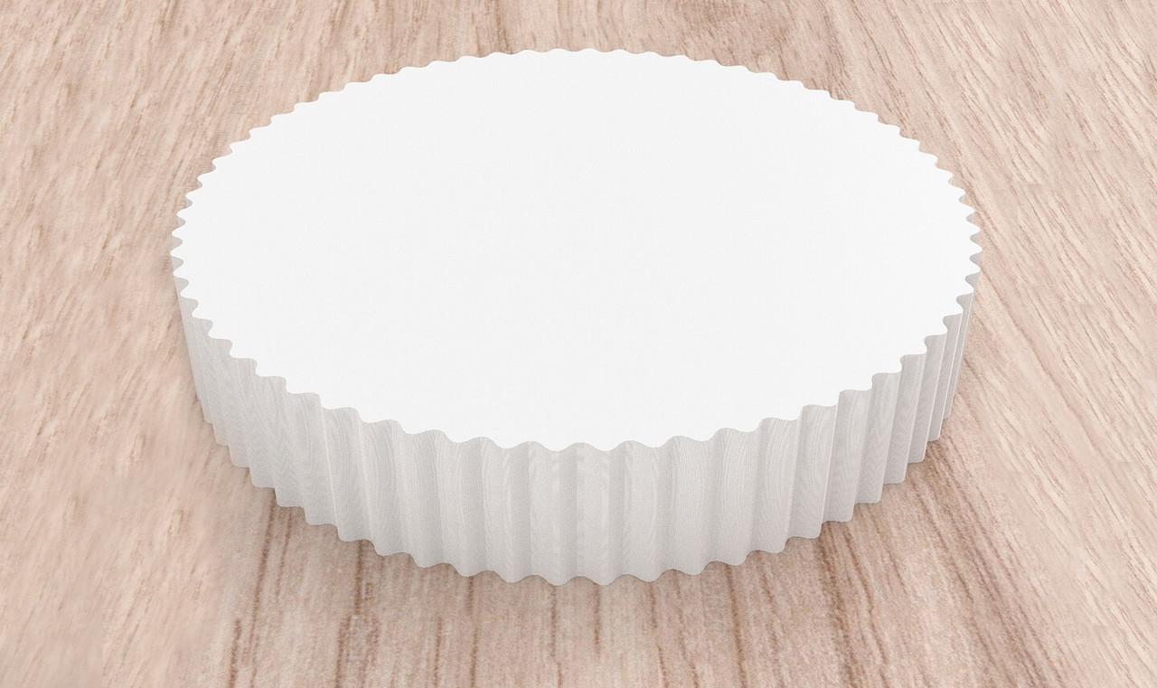 Круглые пергаментные салфетки для торта, пиццы белые 1000 шт 28 см диаметр