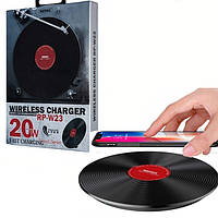 Бездротове зарядний пристрій Remax Original RP-W20 Vinyl Series II Wireless 20W Швидка зарядка, фото 1