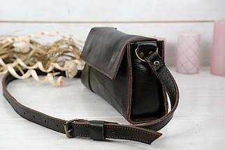 Жіноча шкіряна сумка Френкі вечірня, натуральна Гладка шкіра, колір коричневый, відтінок Шоколад, фото 3