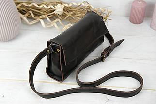 Жіноча шкіряна сумка Френкі вечірня, натуральна Гладка шкіра, колір коричневый, відтінок Шоколад, фото 2