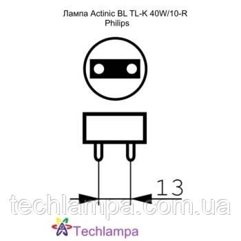 Лампа Actinic BL TL-K 40W/10-R Philips