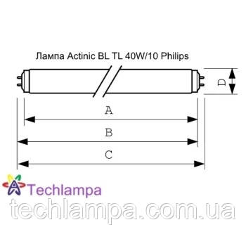 Лампа Actinic BL TL 40W/10 Philips