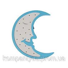"""Детский деревянный ночник """"Голубая Луна"""" на батарейках MD 1566"""