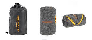 Полотенце из махровой микрофибры Alligator Dry серо-оранжевый