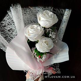 Букет з мила ручної роботи, конверт троянд, букет троянд