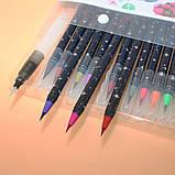 Набор акварельных маркеров с кисточкой 20 цветов Детский набор для рисования маркеры для скетчинга, фото 2