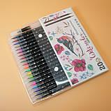 Набор акварельных маркеров с кисточкой 20 цветов Детский набор для рисования маркеры для скетчинга, фото 4