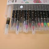 Набор акварельных маркеров с кисточкой 20 цветов Детский набор для рисования маркеры для скетчинга, фото 6