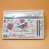 Набор акварельных маркеров с кисточкой 20 цветов Детский набор для рисования маркеры для скетчинга, фото 8