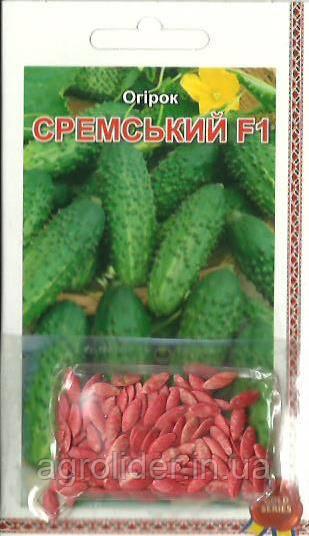 Семена огурец Сремский F1 (инкр) 3г Зеленый (Малахiт Подiлля)